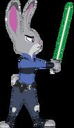 Judy (weilding her Saber)