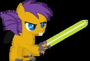 Hanah Streaker (wielding her saber)