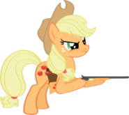 Applejack with her guns