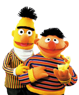 Bert and Ernie in PNG form