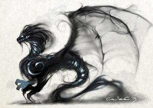 Smoke dragon by millameh-d6js55o