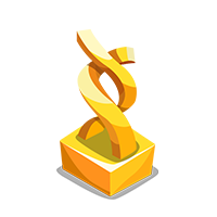 Spliced Gold Trophy