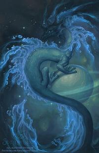Zodiac dragon aquarius by the sixthleafclover-d5mqnum
