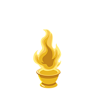Flame Gold Trophy