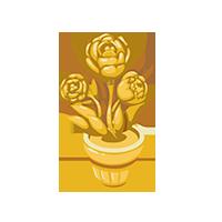 Floral Gold Trophy