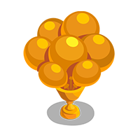 Balloons Gold Trophy