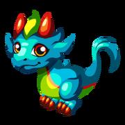 Rainbow Plume Baby