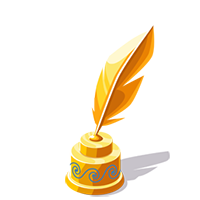 Feather Gold Trophy