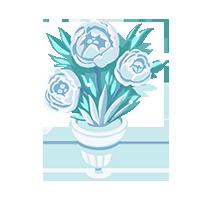 Floral Crystal Trophy