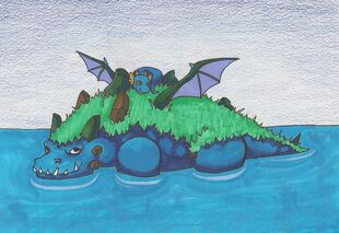 Nesoi the island dragon by blackwingcrookedtail-d59m8fh