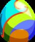 Rainbow Plume Egg