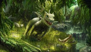 Baby forest dragon art