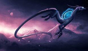 Portal dragon art