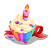 B-day Cupcake