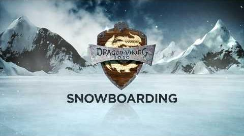 HOW TO TRAIN YOUR DRAGON - Dragon-Viking Games Vignettes Snowboarding