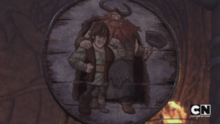 Hiccup e Stoik disegnati da Bucket
