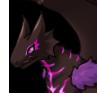 Purple peek adult icon