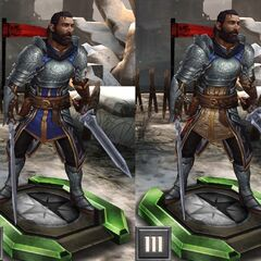 Tier progression of Warden Commander Duncan in <i>Heroes of Dragon Age</i>