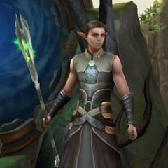 Ein Dalish-Magier in <i>Heroes of Dragon Age</i>
