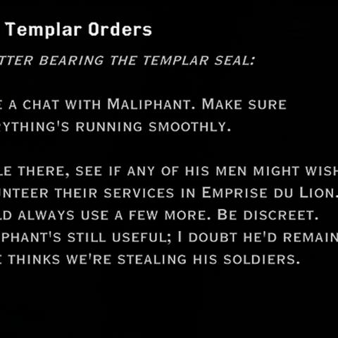 A letter regarding Maliphant