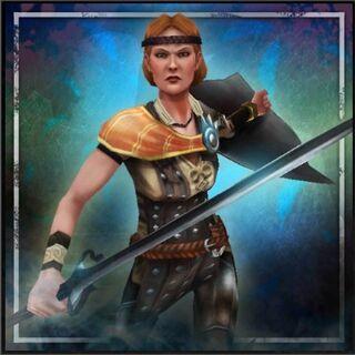 Obraz Aveliny promujący <i>Heroes of Dragon Age</i>