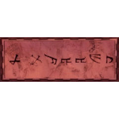 Runes written in ancient Dwarven.