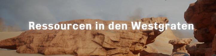 Ressourcen in den Westgraten