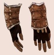 Грубые рукавицы из кишок