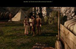 Écran-Marchand et prêtresse à Lothering