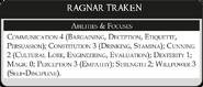 Рагнар Тракен статистика