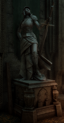 The Knights Tomb - a statue