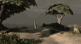 Опушка с железными деревьями