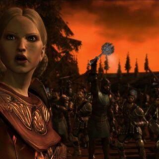 Anora podczas bitwy o Denerim