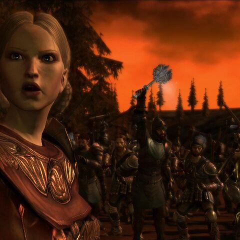 Anora zu Beginn der Schlacht um Denerim