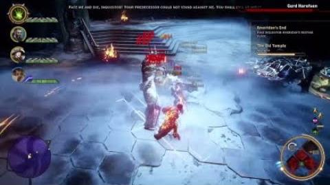 Dragon Age Inquisition - Gurd Harofsen Boss Fight -9 -Jaws of Hakkon- (Nightmare Difficulty)
