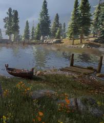 Ein Geist im See - Der Steg