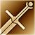 Большой меч (золотой)