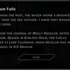 Lyrium Falls Landmark Text