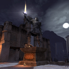 Statue of triumph against the Qunari on the Docks of Kirkwall