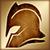 Тяжелый шлем (золотой)