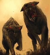 Концепт-арт моровых волков