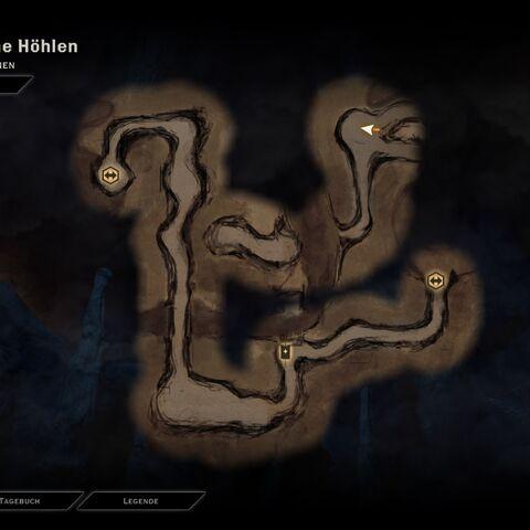 Karte der Höhlen