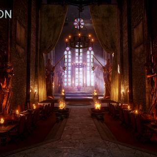 Sala tronowa w stylu andriastriańskiego zakonu