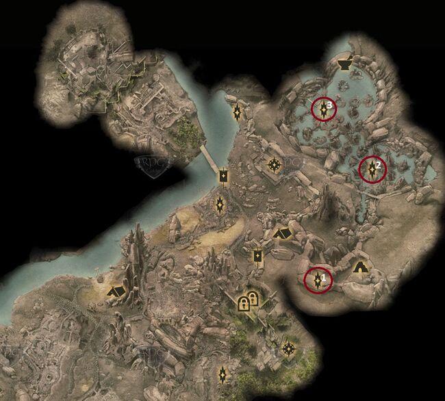 Risse in den Sümpfen - Karte