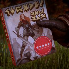 Cover of Swords and Shields by Varric (Character Looks like Aveline)