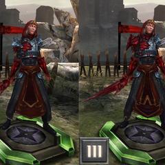 Meridith in Heroes of Dragon Age mit Rotem Lyrium