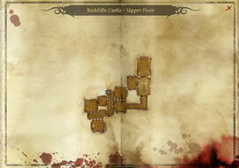Map-Redcliffe Castle - Upper Floor