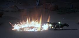 Демонстрация умения Огненный след (Inquisition)