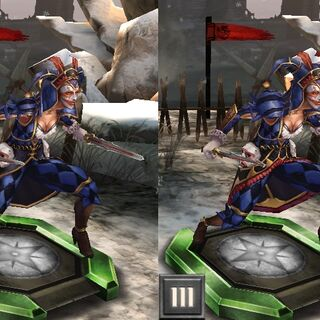 Tier progression of an Elite Harlequin in <i>Heroes of Dragon Age</i>