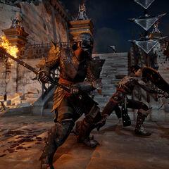 The Inquisitor in combat.